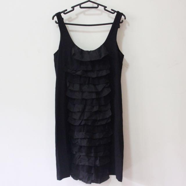 Et Cetera Black Ruffle Dress