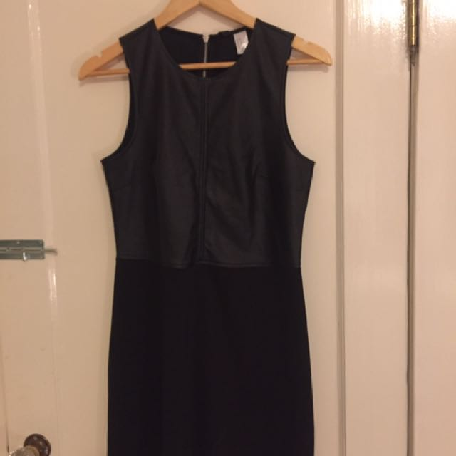 Faux Leather Dress Size 8