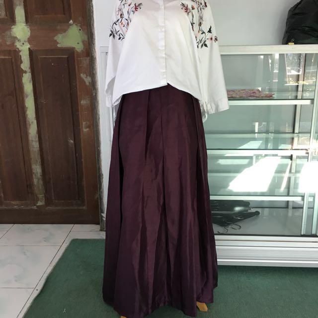 Flare Purple Skirt