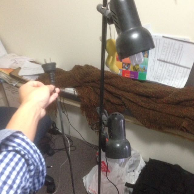 Floor Lamp. Black. (bulbs Not Included)