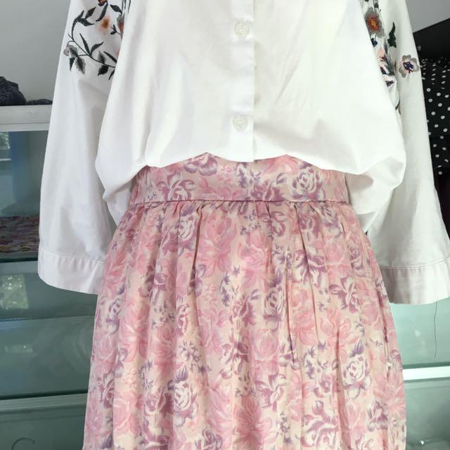 Flowery Shabby Skirt