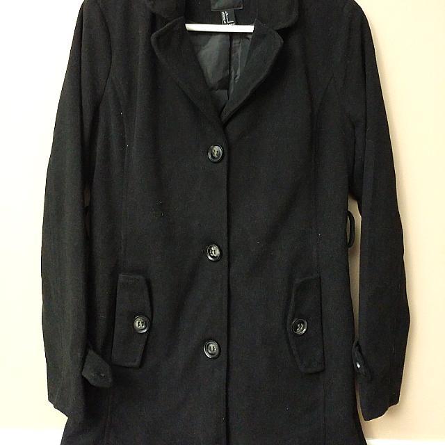 Forever 21 Black Coat