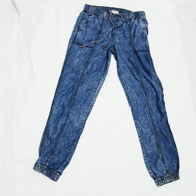 Forever 21 Denim Jogger Pants