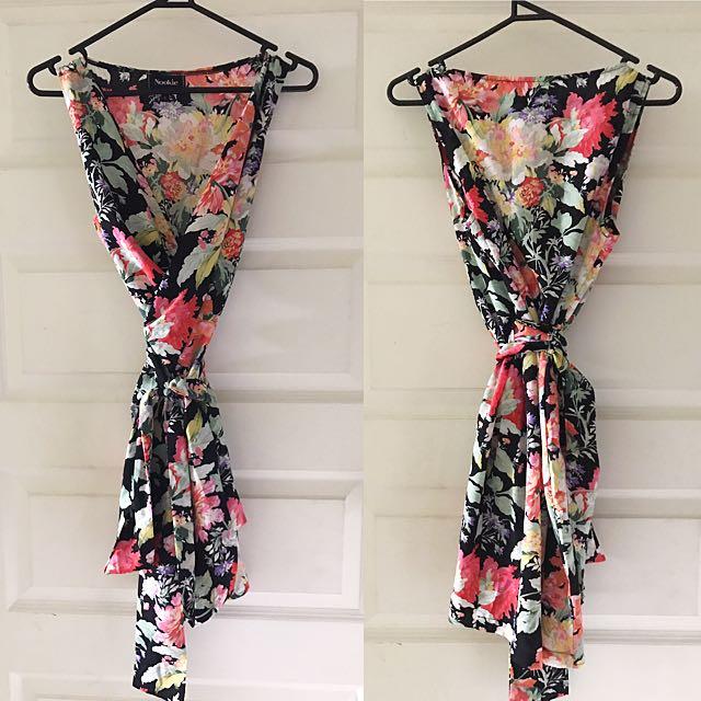 Full Bloom Wrap Dress