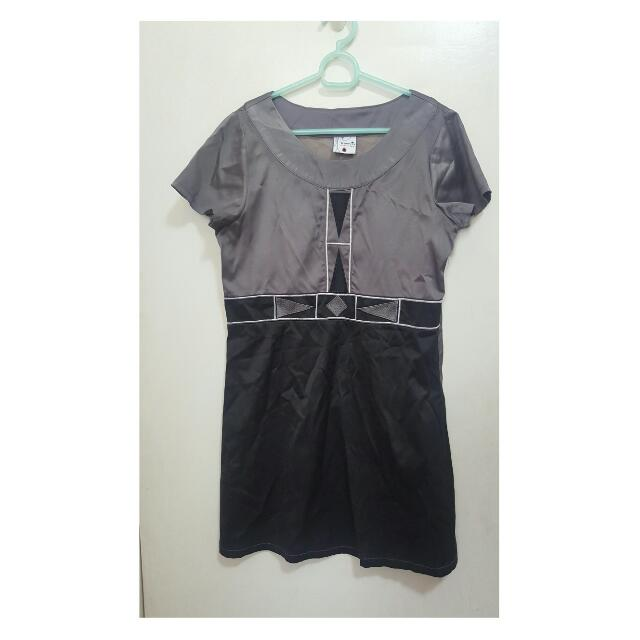 Gray And Black Block Dress From Freeway