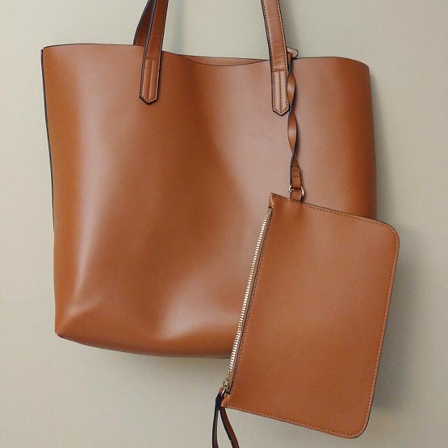 H&M Brown Tote Bag