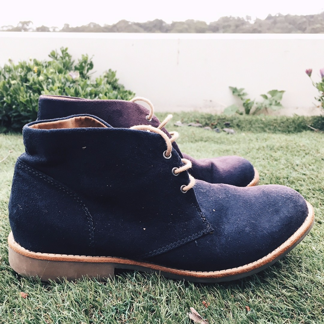 HnM Dark Blue High Cut boots US8.5 (PRICE DROPPED)