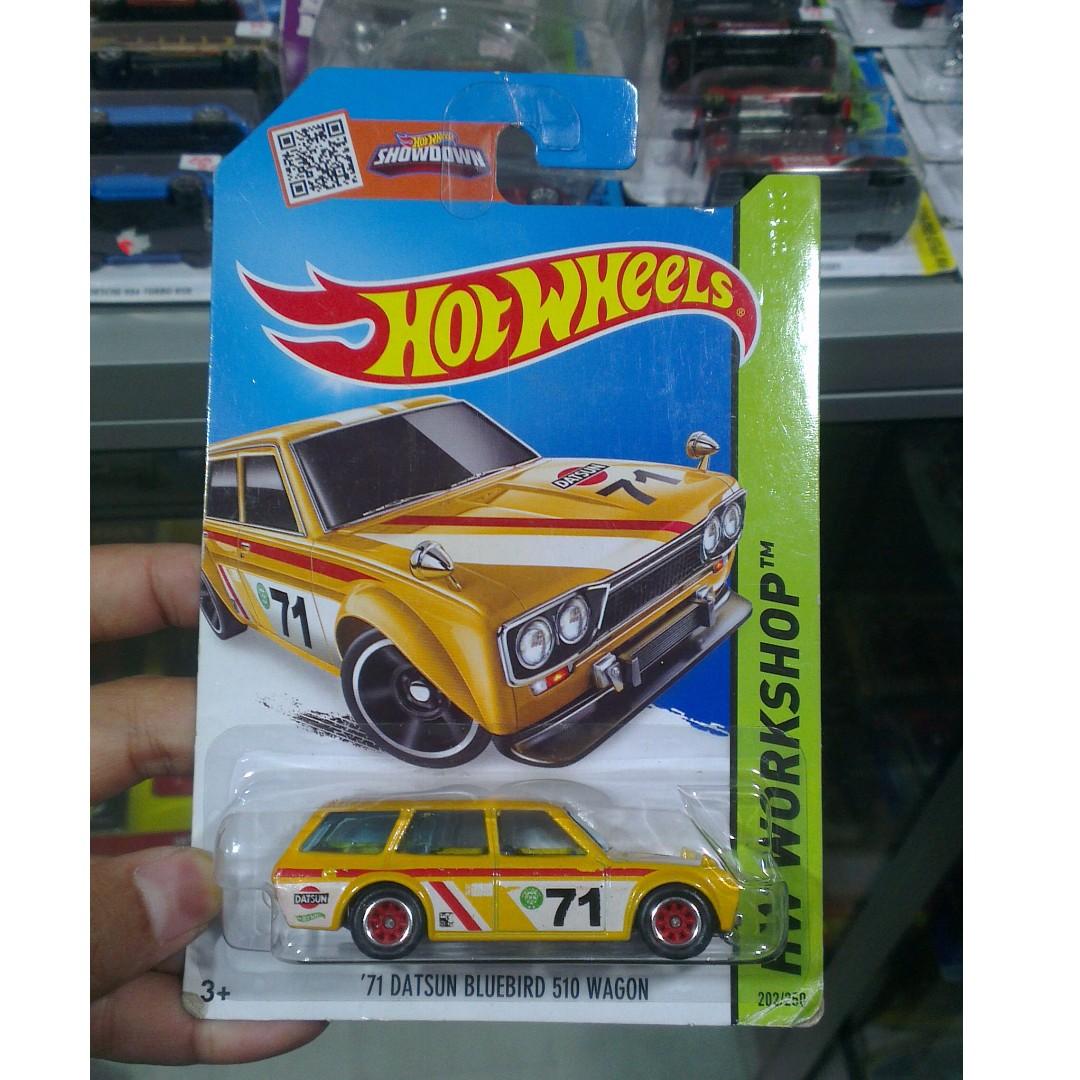 Hot Wheels 71 Datsun 510 Bluebird Wagon yellow