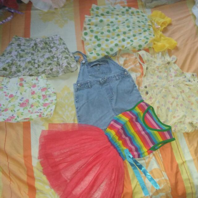 Jumpers And Skirts With Panty Underneath Plus Additional Used 2 Dresses!!! Grab Now