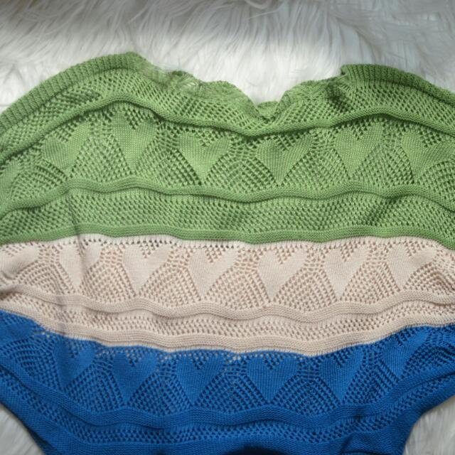 Knit Color Block Top
