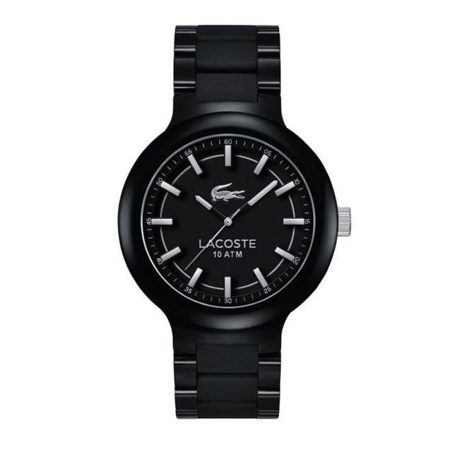 LACOSTE Mens Borneo Black Analog Quartz Watch