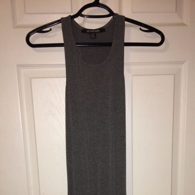 Le Chateau Ankle Length Grey Maxi Dress