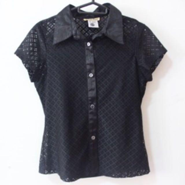 Loisir Plus Black Blouse