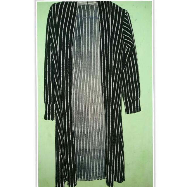 Reprice!! Long Stripes Cardigan