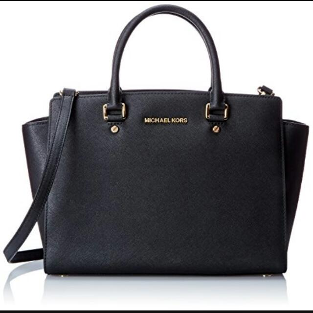 Michael Kors Black Selma Bag Large