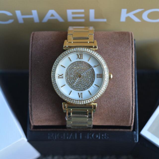 Michael Kors Catlin Mother of Pearl Dial Ladies Watch (MK3332)
