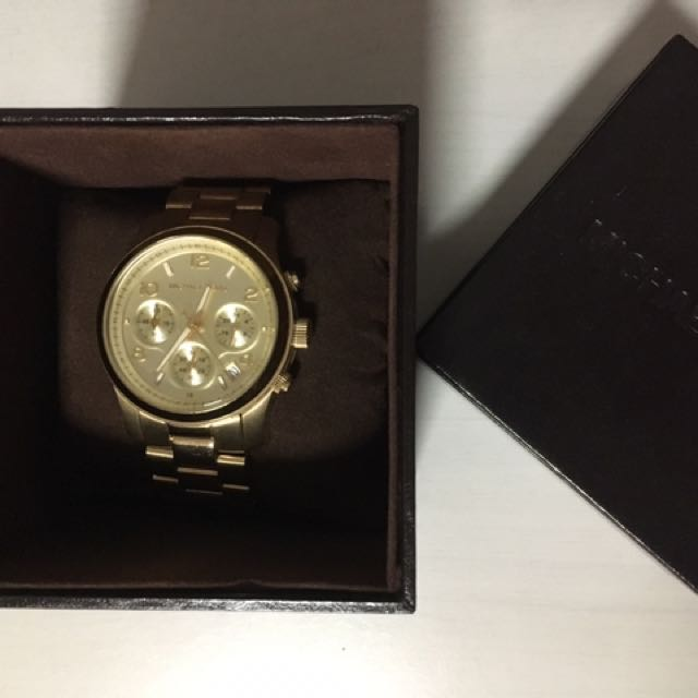 MICHAEL KORS Women's Gold Oversized Watch