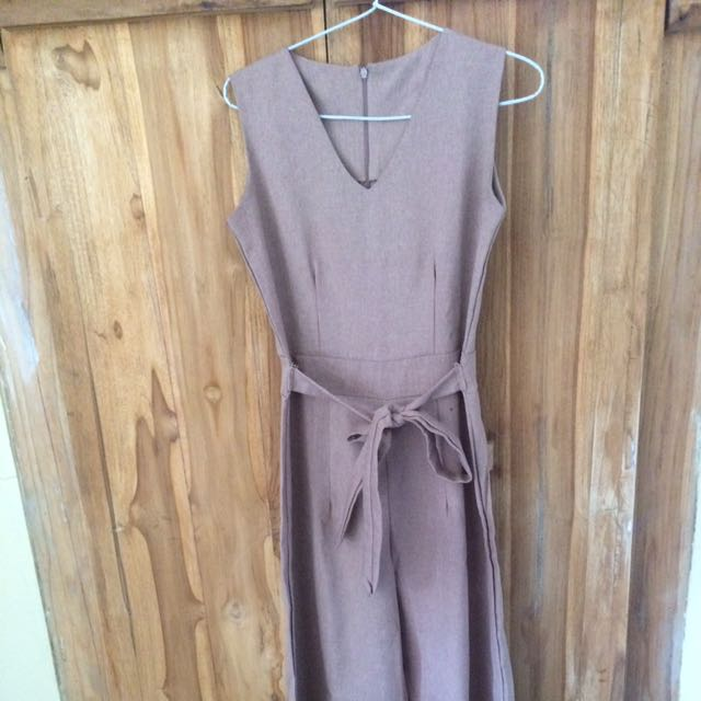 Nude Cullotes Jumpsuit
