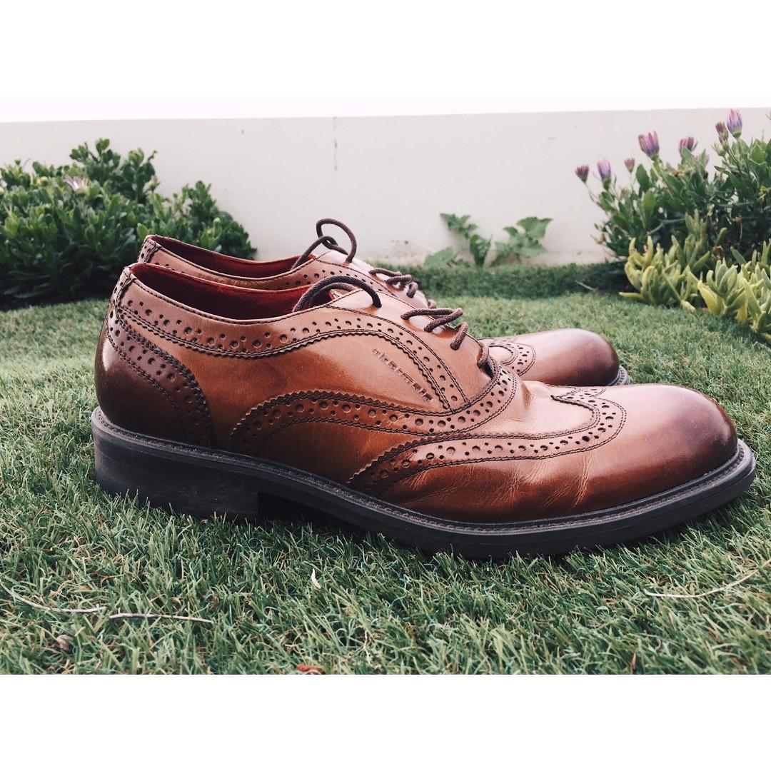 Obermain Brown Brogue Men's Dress Shoe