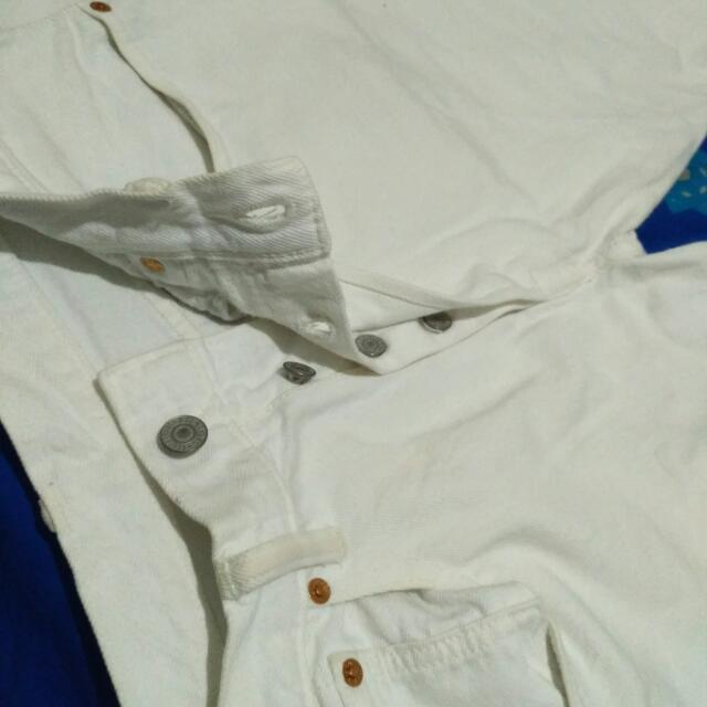 Original Levi's 501 Custom Tapered True White