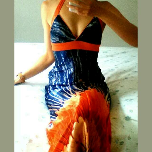 "Pilgrim ""Sunset Splash"" Maxi Dress 10"