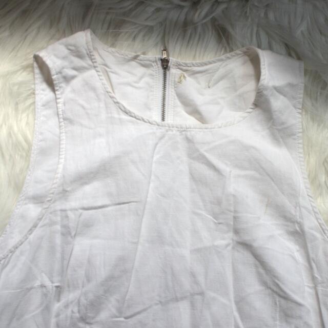 Plain White Canvas Dress