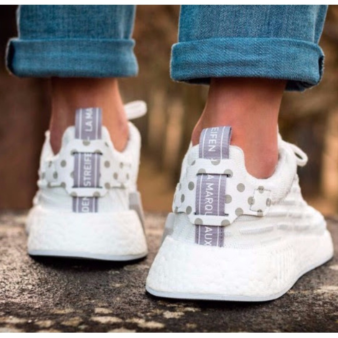 Primeknit Heels R2 Shoes Dots Po With unisex On Adidas Nmd Polka qzZIxtE