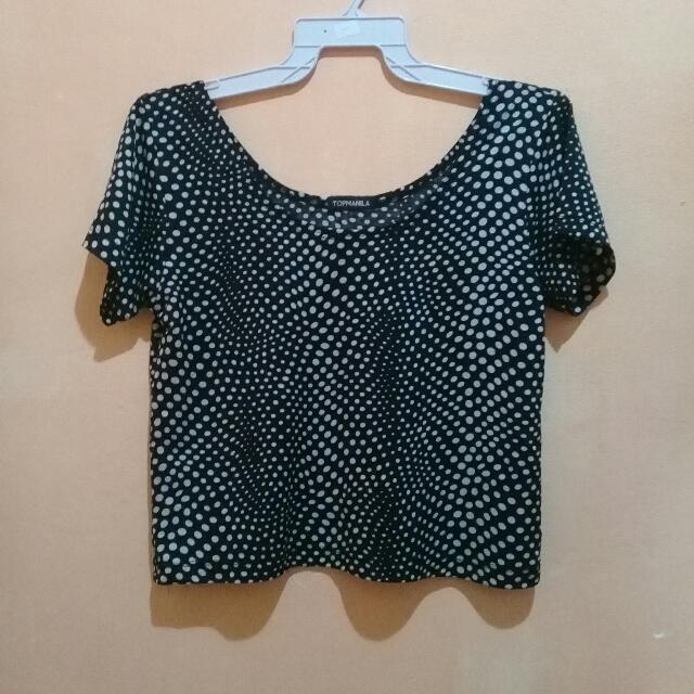 Polka Dot Crop Top