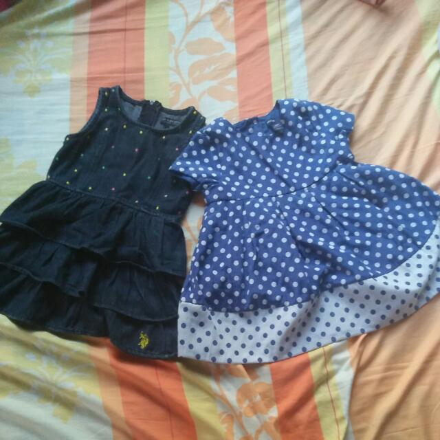 Polo Dress Upto 3y. O And Baby gap 2y.o Up With 2 Additional Old Dresses