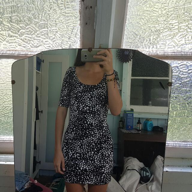 Printed Tube Dress