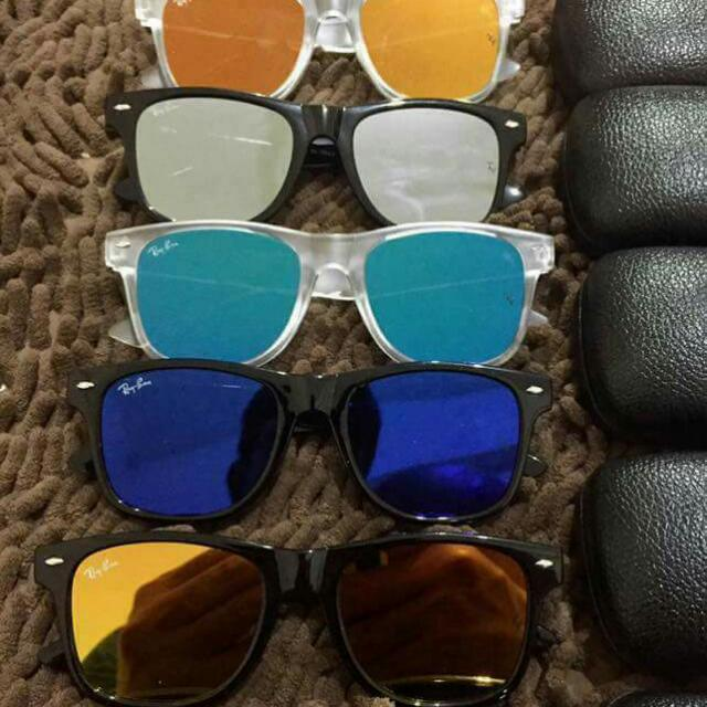 Rayban w/ hard case - best seller Mirror lense  Made in Italy price : 850 php