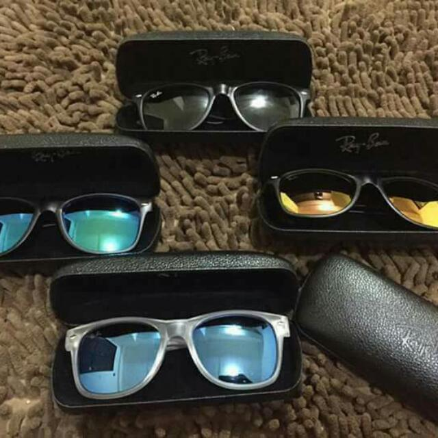 Rayban with hardcase Made in Italy Price : 850 php