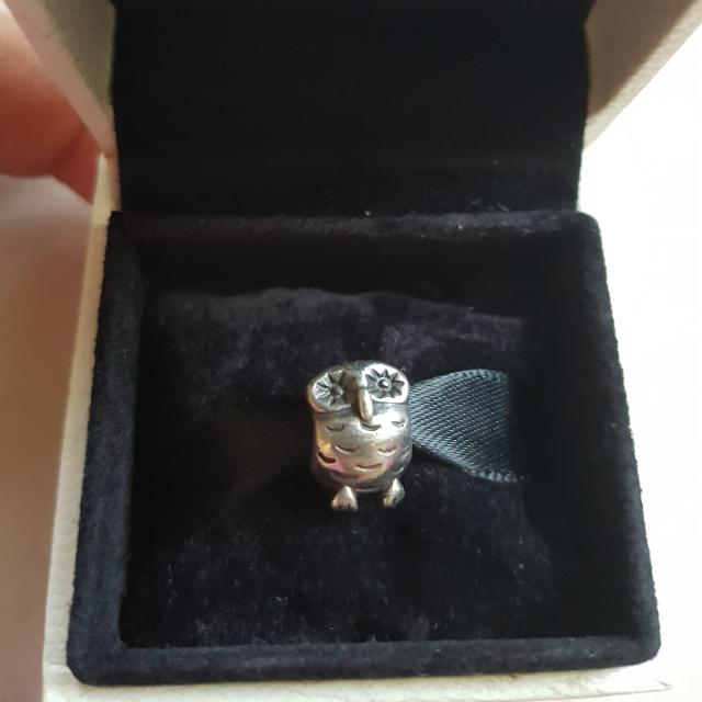 Retired Authentic Pandora Owl Charm
