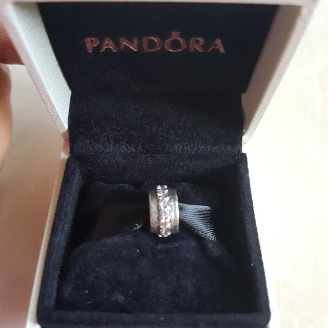 Retired Authentic Pandora Pink CZ Charm Clasp