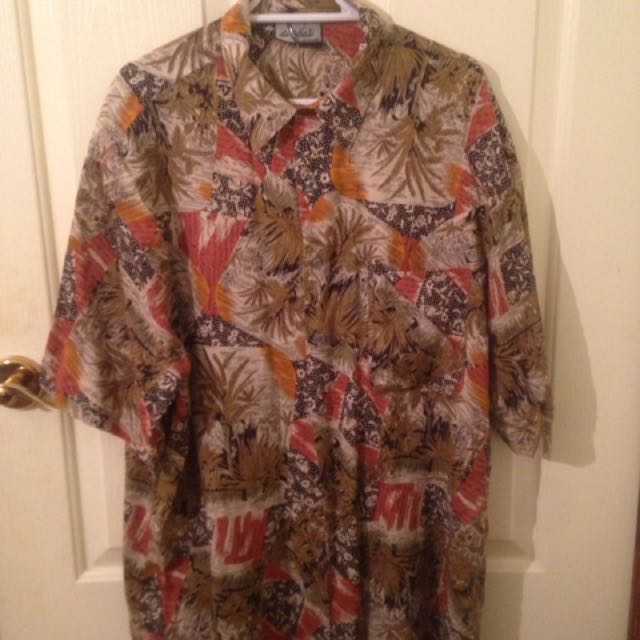 Vintage Safari Button Shirt