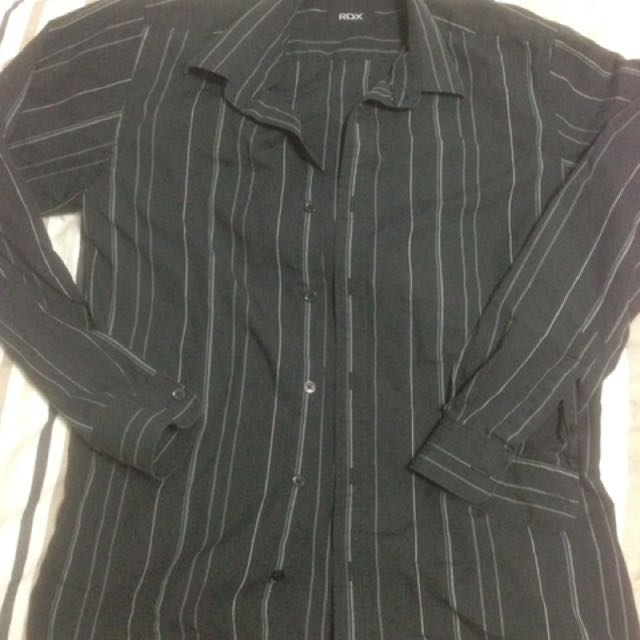 Size Small Black Rdx Formal Collared Men's Shirt