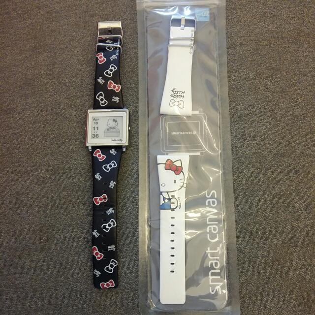 Smart  Canvas  Hello Kitty款原廠附的白色錶帶(免運)