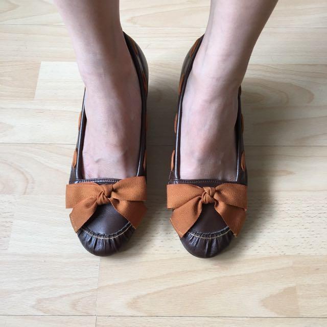 Sweet Ribbon Low ~ Medium Heels Pumps