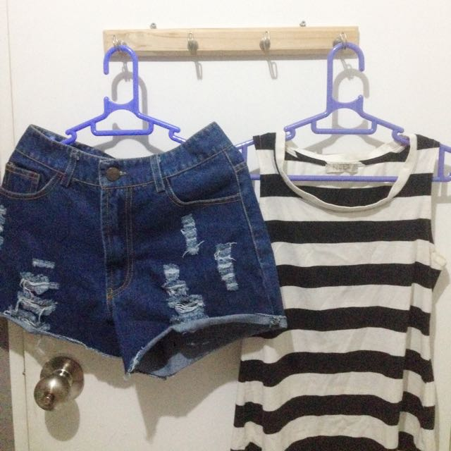 Tank Top From N.Y.L.A & Hot Pants From Gaudi