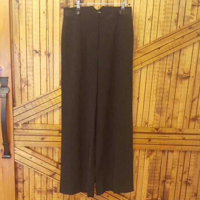 Temperley London Black High Waisted Tuxedo Style Pants
