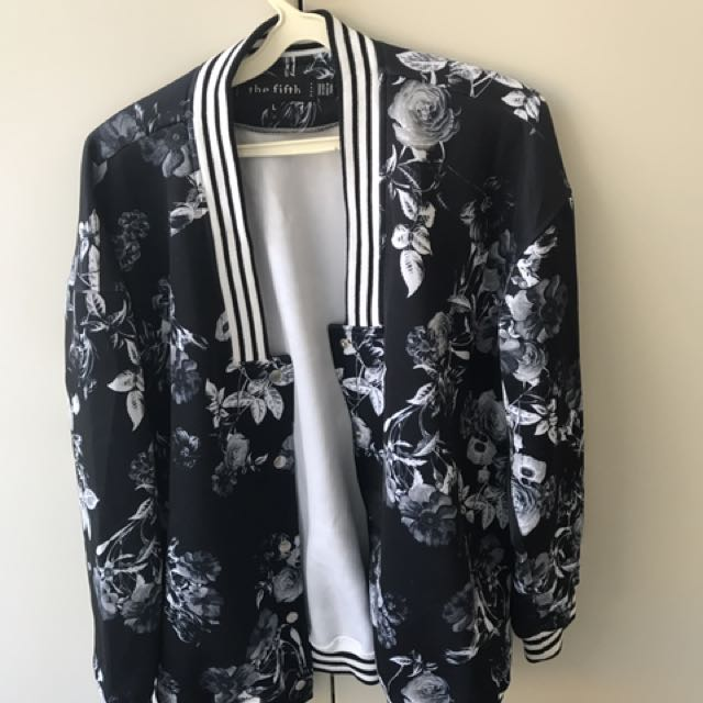 The Fifth Floral Print Bomber Jacket