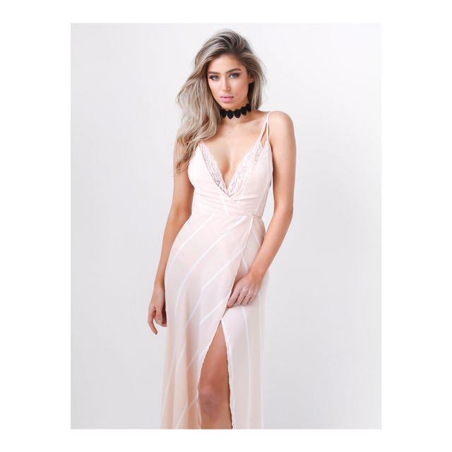 Tigermist Wrap Dress Sz M