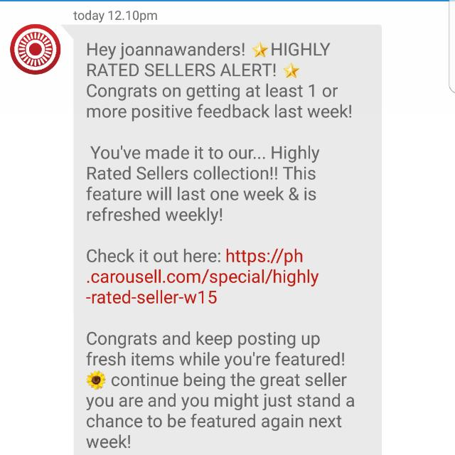TOP-RATED CAROUSELL SELLER! Check my items from well-loved brands. :)