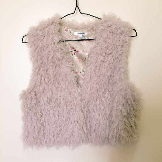 Valleygirl Fur Vest Size 8