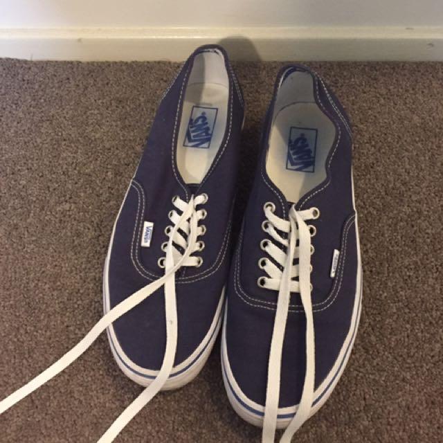 Vans Low cut Blue Shoes Size 11