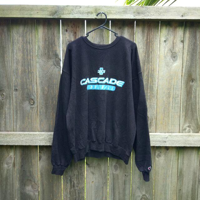 Vintage Champion Cascade Football Crewneck Jumper