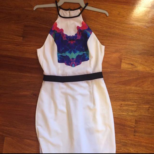 White Midi Dress From Dissh