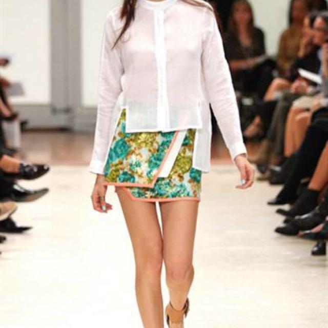 Zimmermann Women's Wrap Floral Mini Skirt