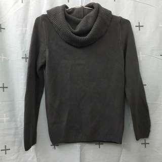 深灰色高領毛衣