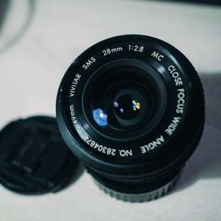 Vivitar 28mm F2.8 MC Close Focus Wide Angle